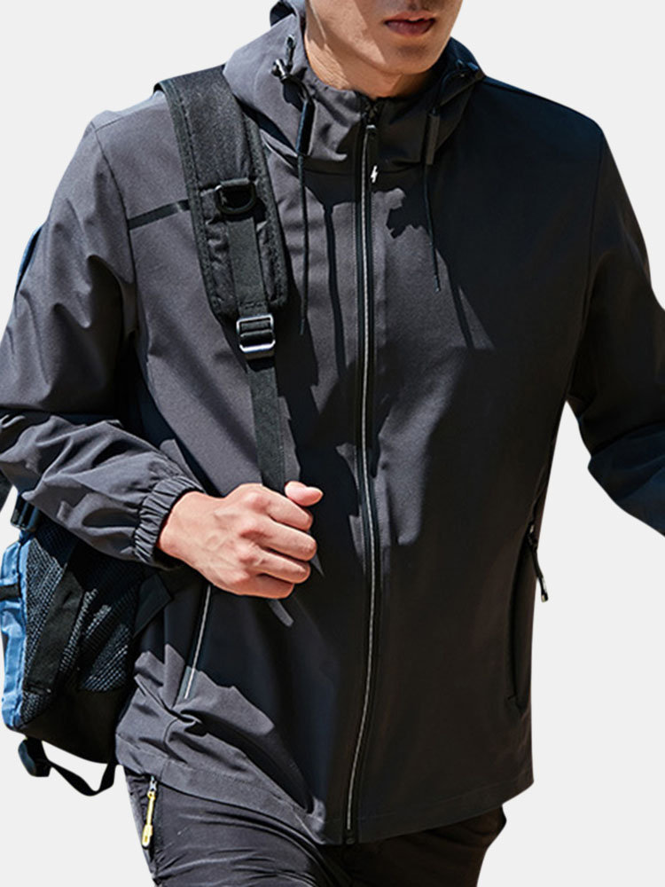 Best Mens Hooded Waterproof Windproof Breathable Outdoor Hiking Sport Running Casual Jacket You Can Buy