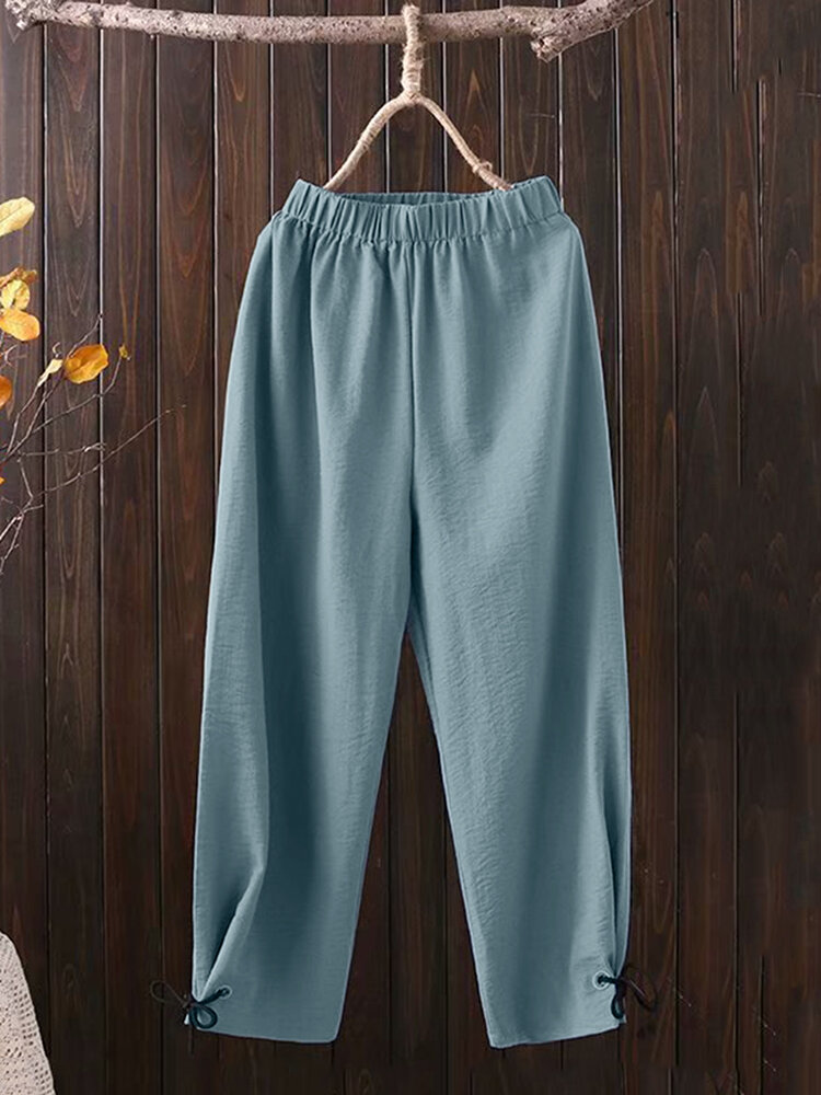 Best Casual Solid Color Elastic Waist Jogger Pants You Can Buy