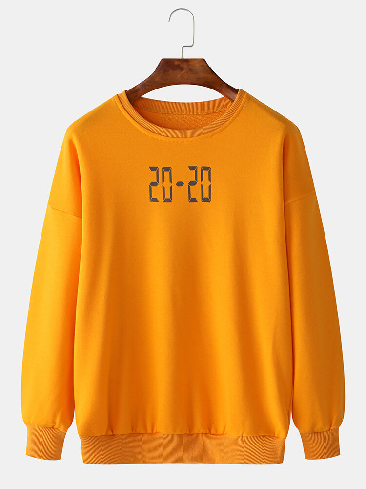 Best Men Time Digital Pattern Round Neck Casual Sports Hoodie You Can Buy