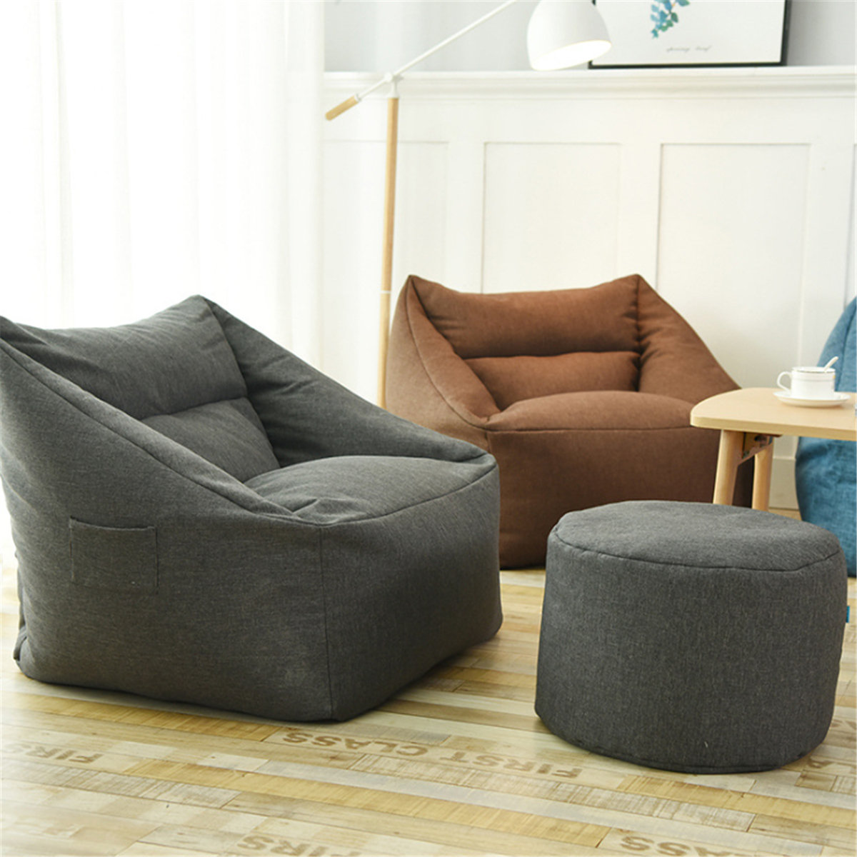 Waterproof Indoor Bean Bag Chair Cover Lazy Sofa Seat Beanbag Sofas Large Game Chair Cover Armchair