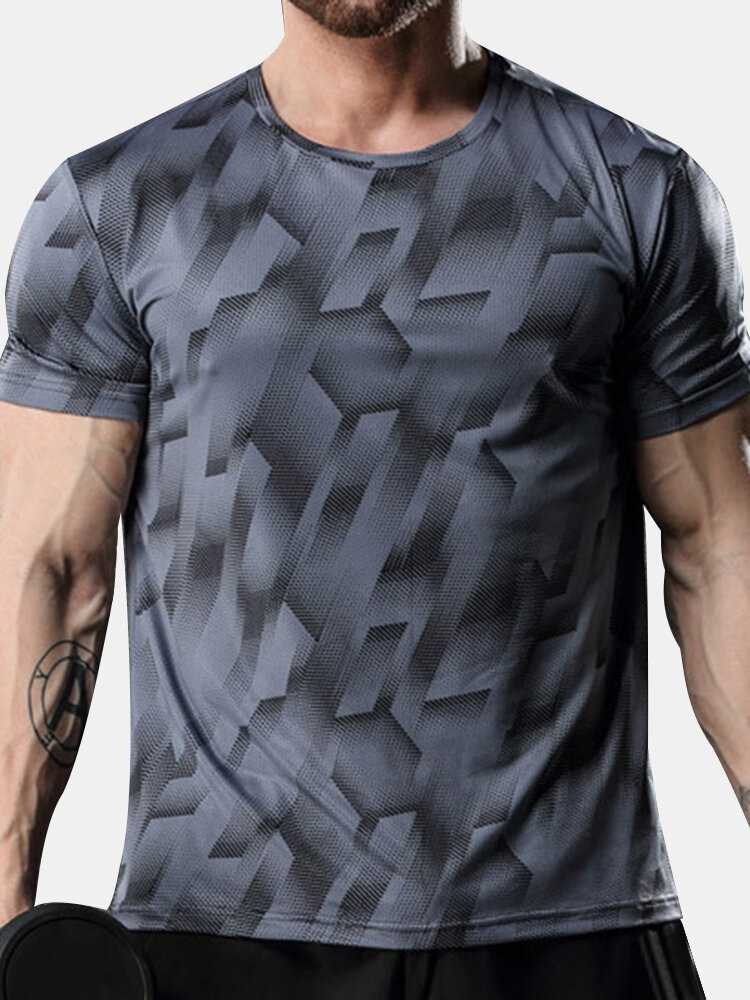 Best Mens Quick-drying Breathable Elastic Casual Top Training Short Sleeve T-shirt You Can Buy