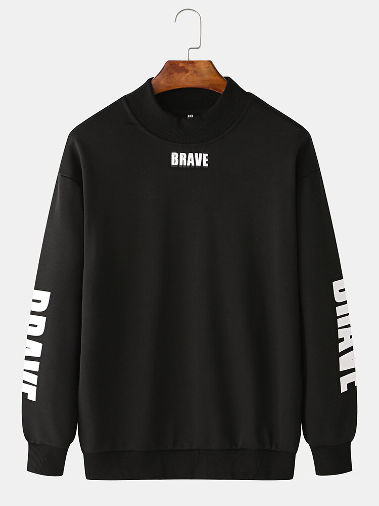 Best Mens Casual Letter Graphic Print Pullover O Neck Sweatshirts You Can Buy