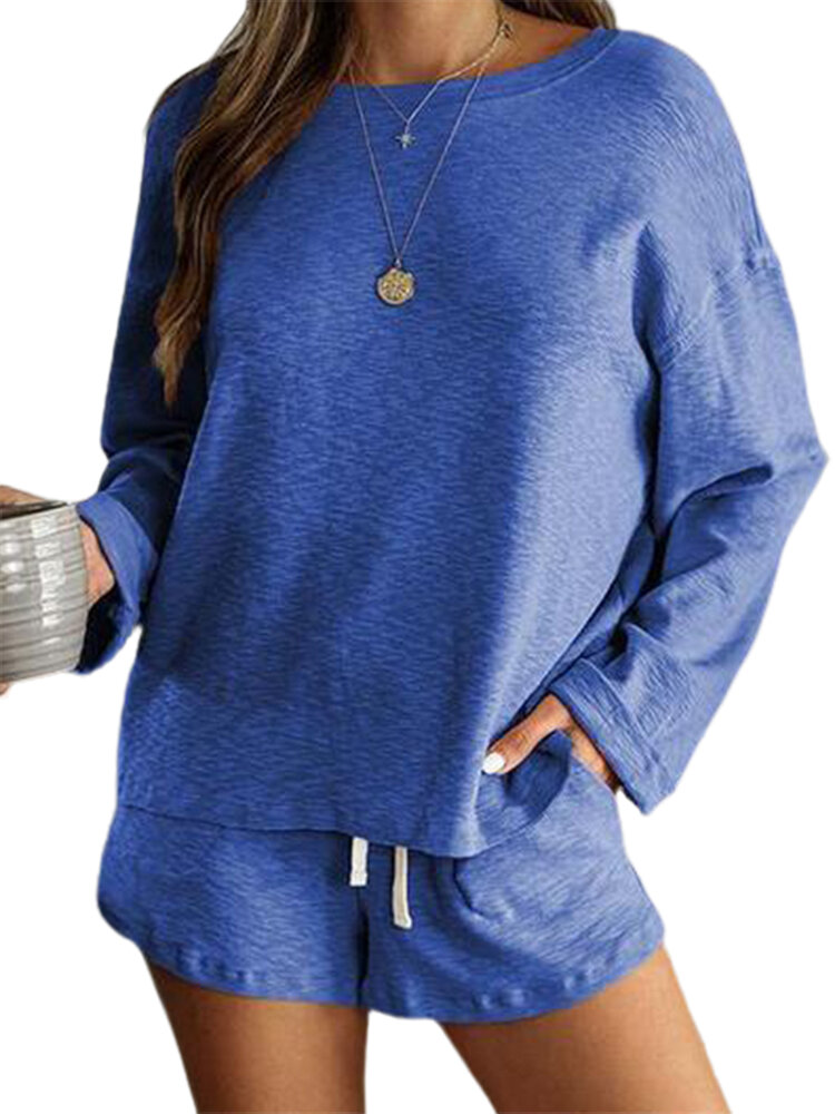 Best Solid Color Long Sleeve Loose Casual Suit For Women You Can Buy