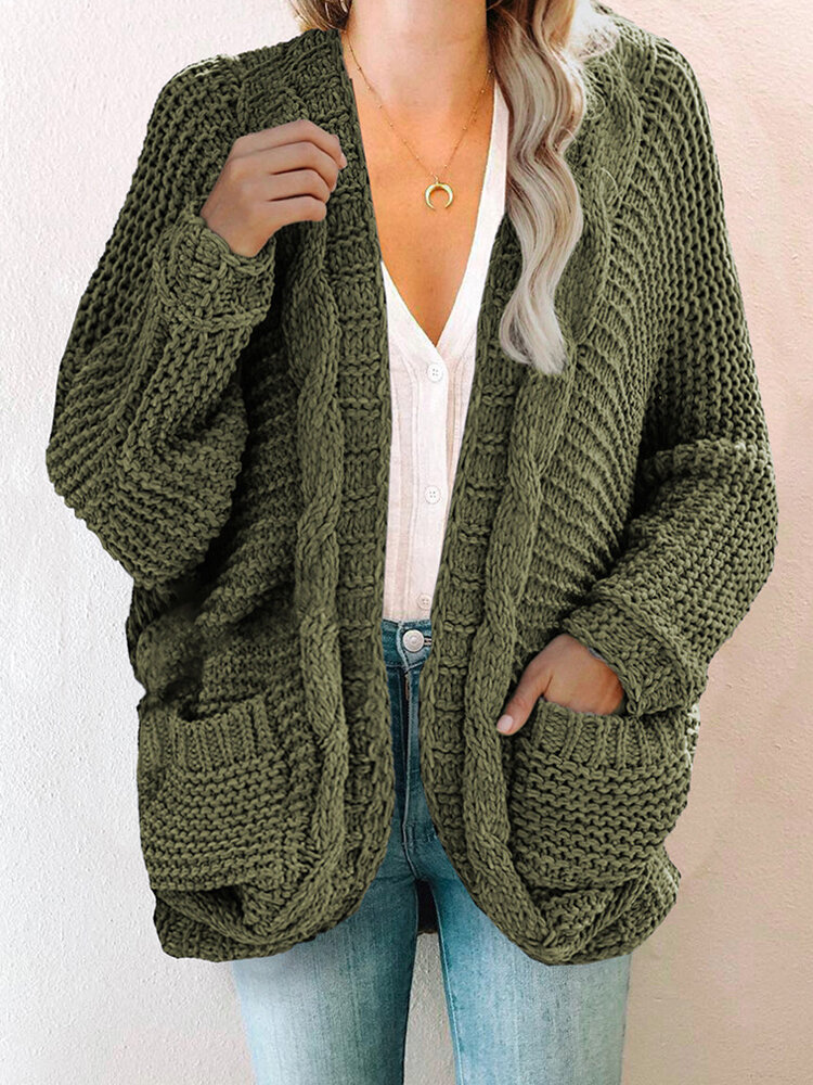 Best Jacquard Long Sleeve Knitted Vintage Plus Size Cardigan You Can Buy