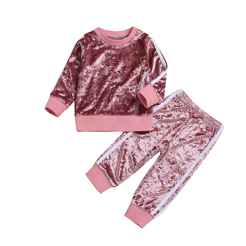 Best Toddler Girls Pullover Tops Long Sleeves Casual Sports Set For 1-7Y You Can Buy