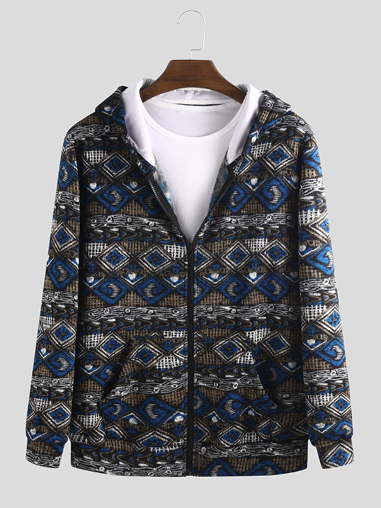 Best Mens Ethnic Style Printing Vintage Loose Long Sleeve Fashion Hoodies You Can Buy