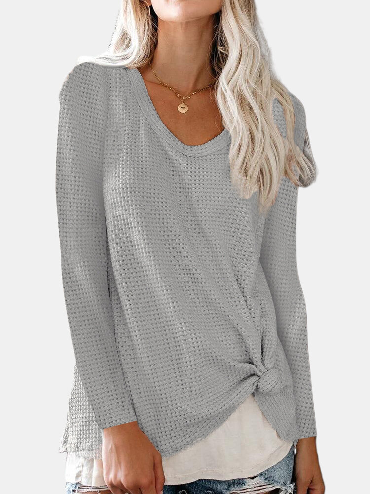 Best Solid Color Crew Neck Long Sleeve Casual Sweater For Women You Can Buy