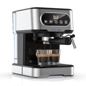 Κοίτα να προλάβεις μονο για 10 τμχ από Ευρώπη | BlitzWolf BW-CMM2 Espresso Machine 20 Bar High Pressure Extraction Milk Frothing Accurate Control Dual System Safe Protection