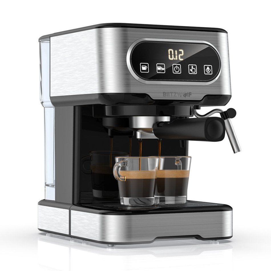 BlitzWolf BW-CMM2 Espresso Machine 20 Bar High Pressure Extraction Milk Frothing Accurate Control Dual System Safe Protection 1100W