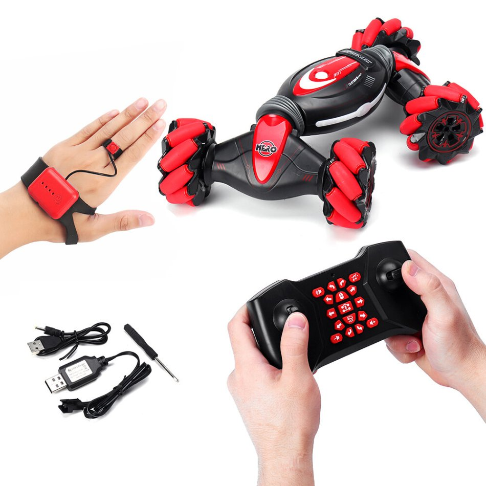 1:12 Remote Control Stunt Car Gesture Induction Twisting Off-Road Vehicle Light Music Drift Dancing Side Driving RC Car Toys