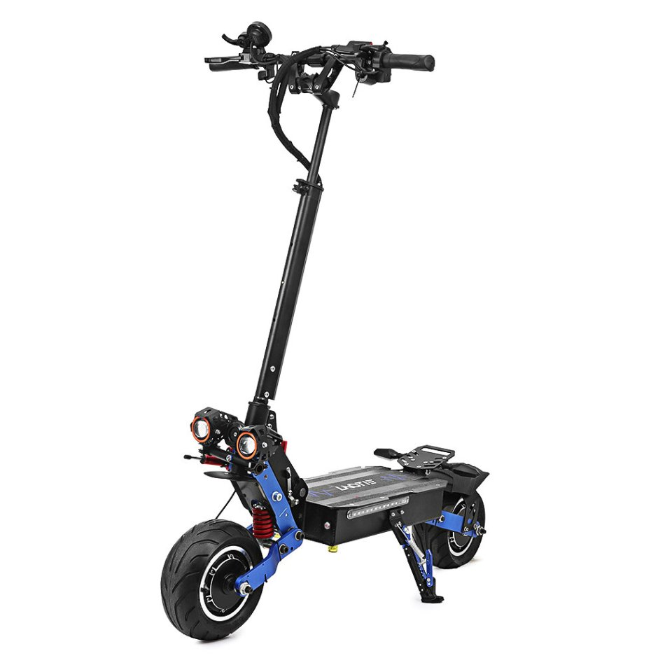 LAOTIE ES19 Steering Damper 60V 38.4Ah Battery 6000W Dual Motor Electric Scooter 100Km/h Top Speed 135Km Mileage 10x2.5inch Wide Wheel Electric Scooter