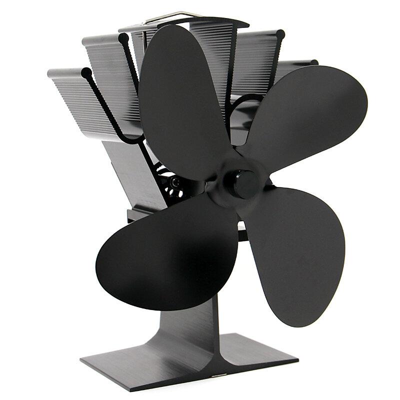 IPRee® 4 Blades Fireplace Fan Thermal Heat Power Stove Fan Wood Burner Fan