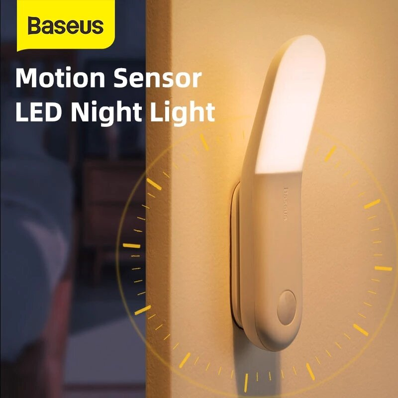 Baseus Smart 160° USB Charging LED Night Light PIR Sunshine Series Human Body Induction Aisle Light From Xiaomi Youpin