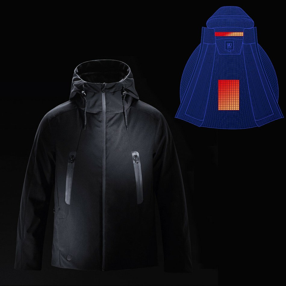 90 FUN Intelligent Down Jacket From Xiaomi Youpin Automatic Heating Waterproof Goose Feather