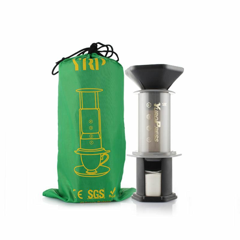 YRP Portable Hand Pressure Drip Filter Coffee Maker Reusable Espresso Maker Holds 350 Pcs 64mm Filter Paper