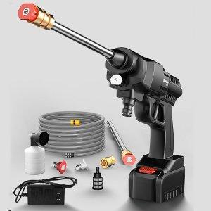 Στα €59.10 από αποθήκη Τσεχίας | 300W or 500W High Power Car Washing Guns Wireless Rechargeable Car Washer High pressure Water Pump W or 1pc Battery US Plug