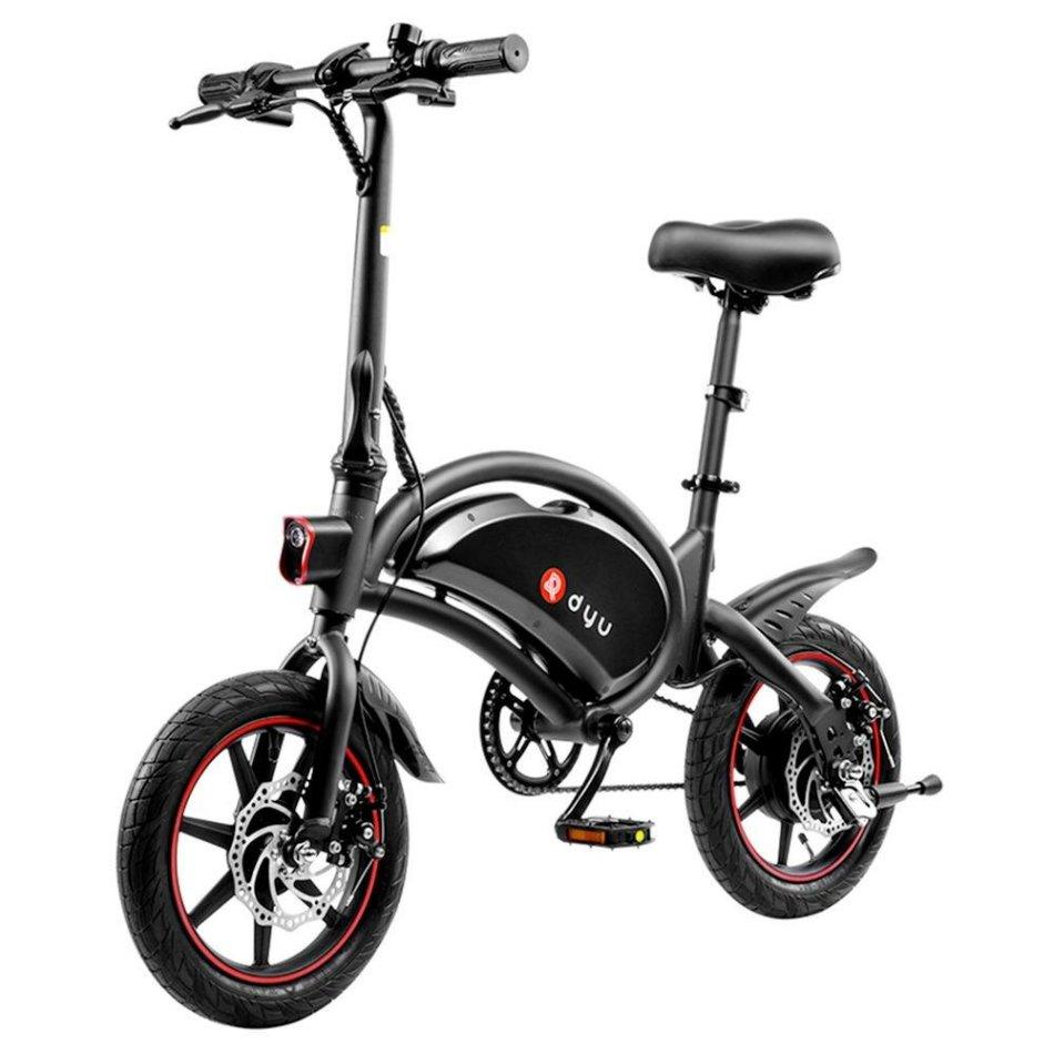 [EU Direct] DYU D3F 10Ah 36V 250W 14in Folding Moped Electric Bike 25km/h Top Speed Max Load 120kg Dual Disc Brake E-Bike