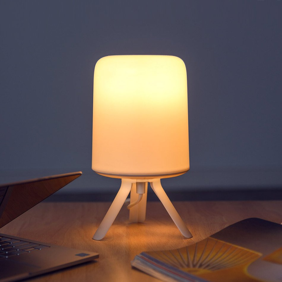 Zeeray Bedside Lamp Small Colorful Atmosphere Light 3 Styles Minimalist Hazy Design Exquisite Works With Mijia APP