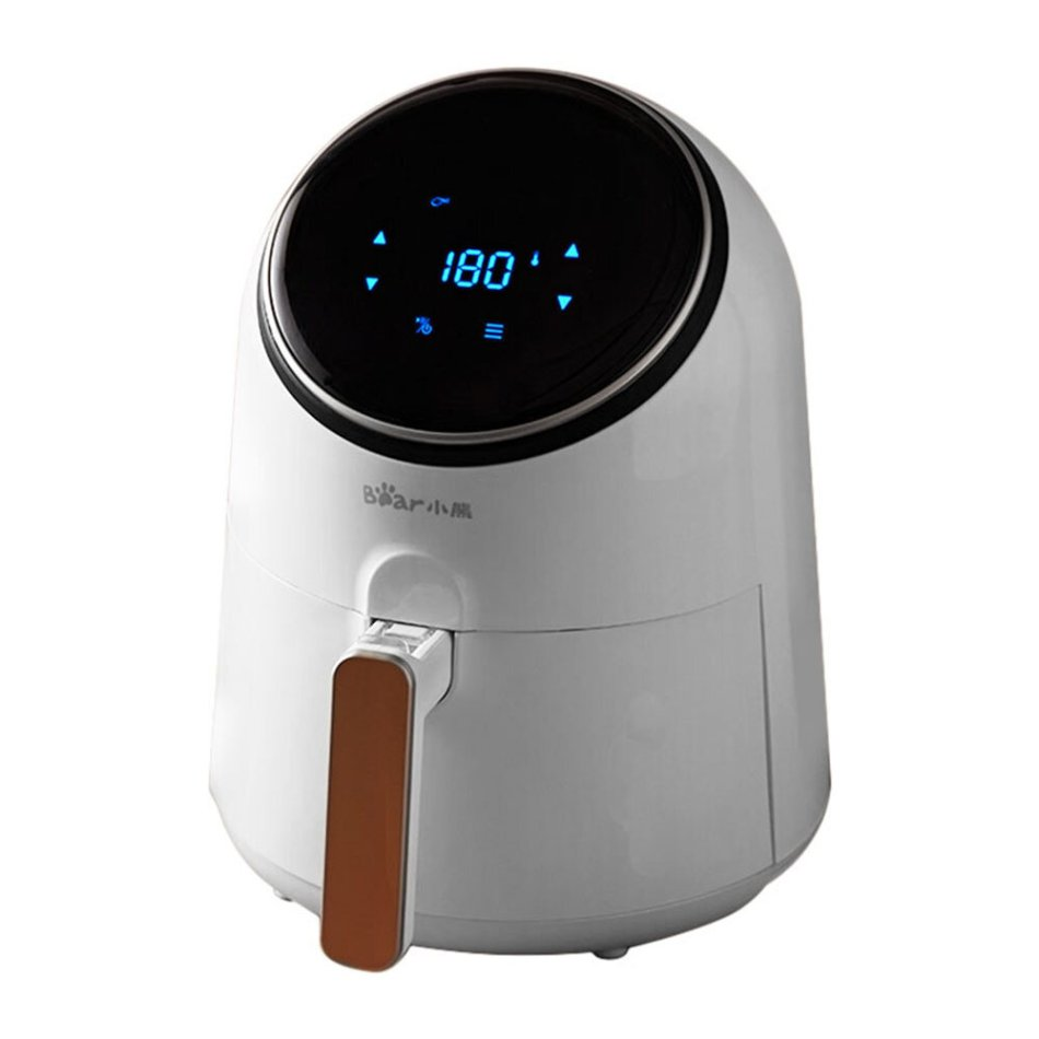 Bear QZG-A13R1 Air Fryer 3.2L Large Capacity 1300W Electric Hot Air Fryers Oven Oilless Cooker LED Digital Touchscreen with 8 Presets 360° Cycle Heating Nonstick Basket from Xiaomi Ecological Chain