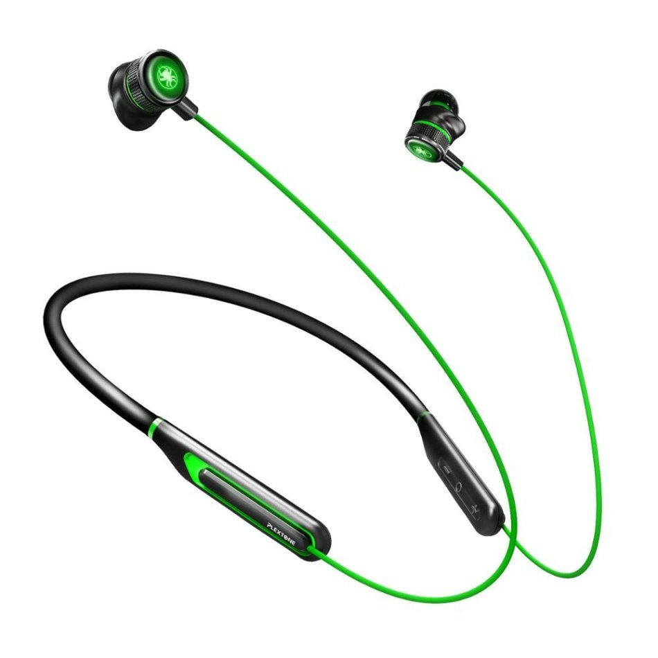 PLEXTONE G2 Neckband bluetooth Earphone Virtual 7.1 Stereo 3D Game Sound 65MS Low-Latency Earbuds 110mAh Luminous Metal In-ear Sports Gaming Headset with Mic