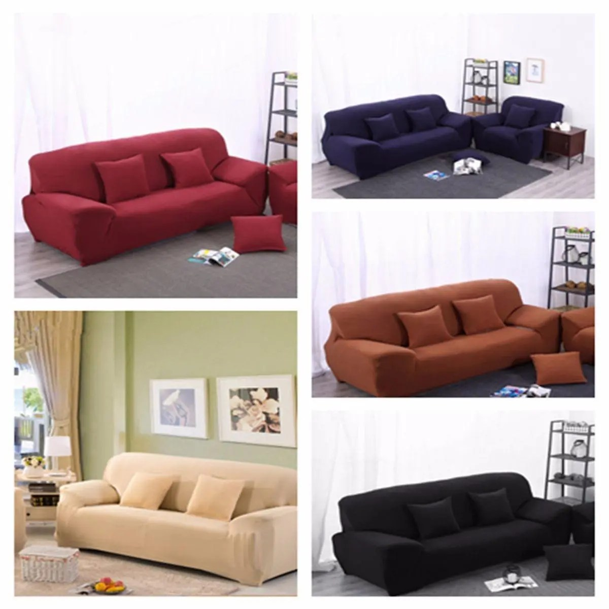 4 Seat Sofa Cover Slipcover Stretch Elastic Couch Furniture Protector Chair Covers