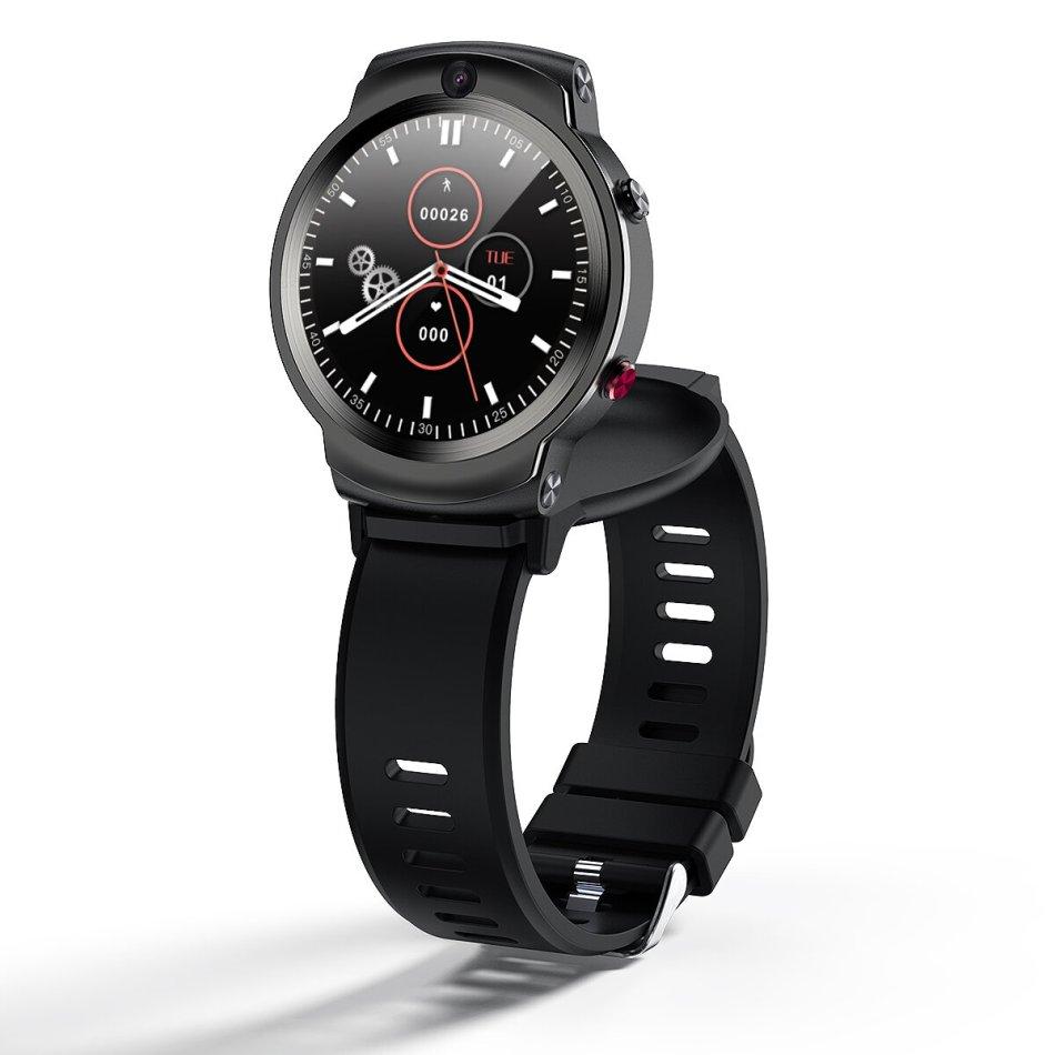 [Face Unlock]LEMFO LEM13 360° Rotating 3G+32G 4G Network Watch Phone 1.6 Inch Dual Camera 9 Sport Modes Game Video Play Smart Watch