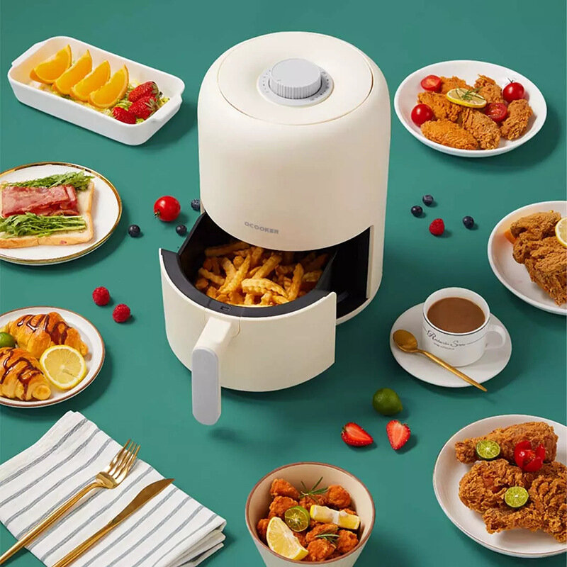Ocooker CR-KG2801Y Full Automatic Air Fryer from Xiaomi Youpin 220V 800W Oil Free 2L Air Grill Machine