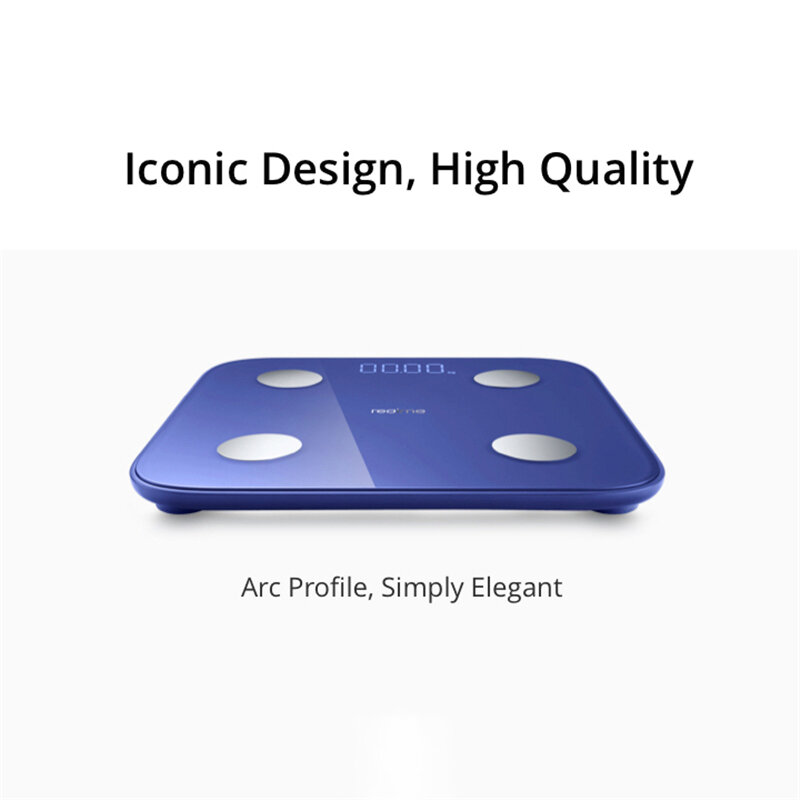 Realme Body Fat Scale Smart bluetooth 5.0 LED Digital Display Balance Test Weight Scale