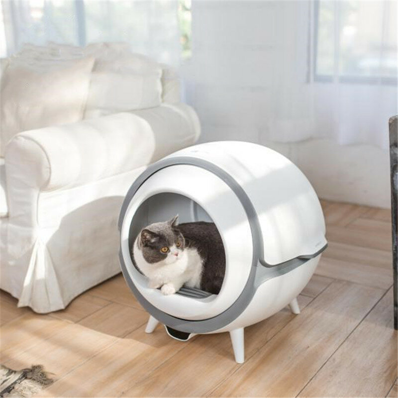 Soikoi Automatic Self Cleaning Cat Litter Box UV Sterilization Smart Pet Toilet Tray with Surgical Mask LED Display