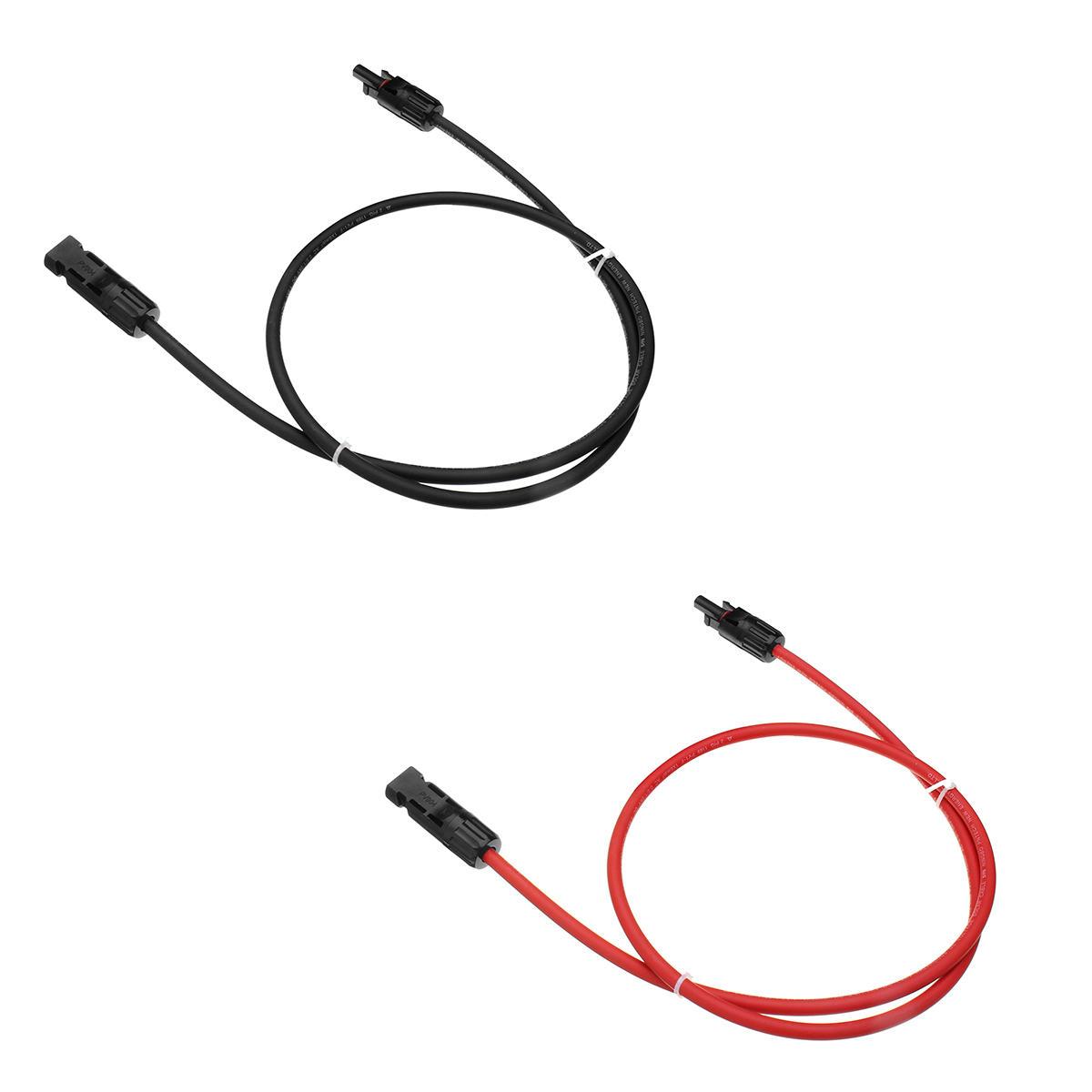 1m Awg10 Zwarte Of Rode Mc4 Connector Zonnepaneel