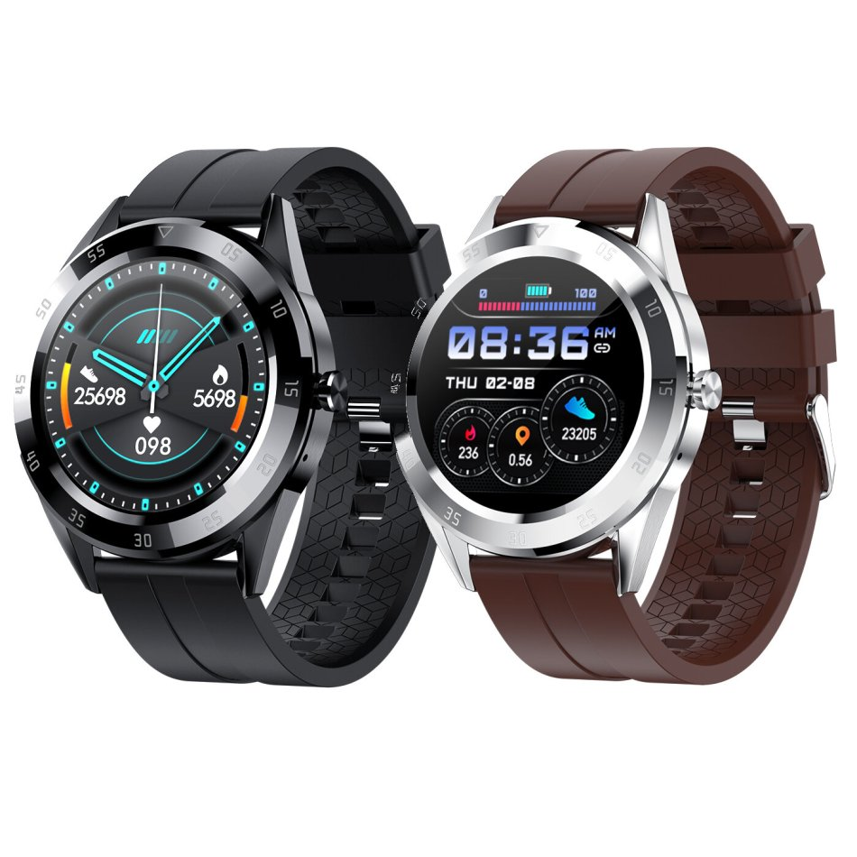 [bluetooth Call]Bakeey Y10 1.54' Full Touch Screen Dual Menu Style Multiple Dial Option Heart Rate Blood Pressure Oxygen Monitor IP68 Smart Watch