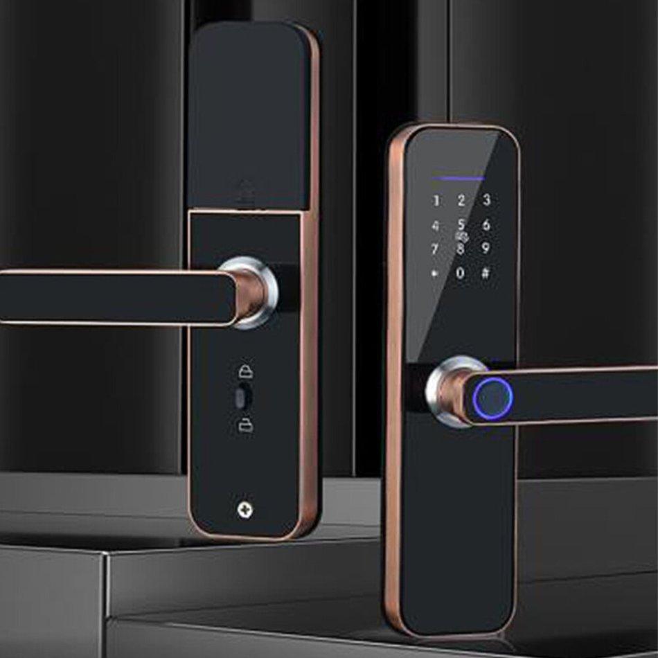 Smart Door Lock Fingerprint Keyless Multi-function Unlock Digital Deadbolt Bluetooth WiFi Key Wireless Room Door Anti-theft