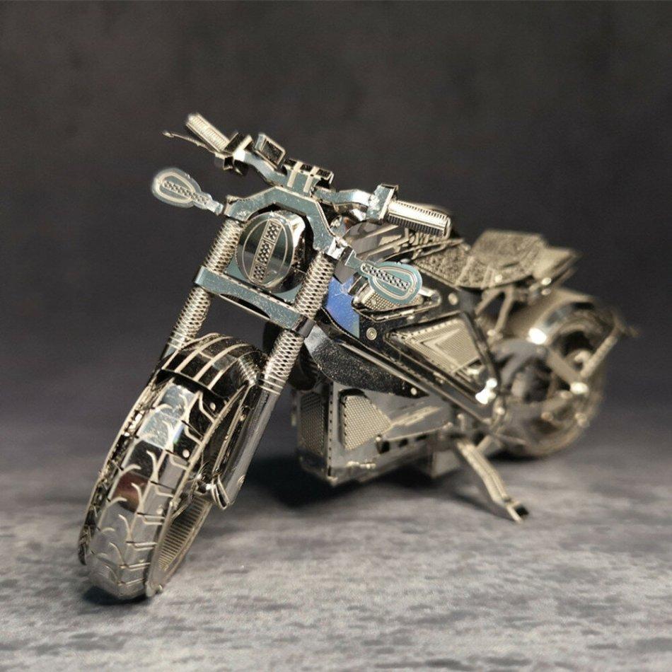Avengers Motorcycle 3D Metal Assembly Model Puzzle Desktop Decoration Toys