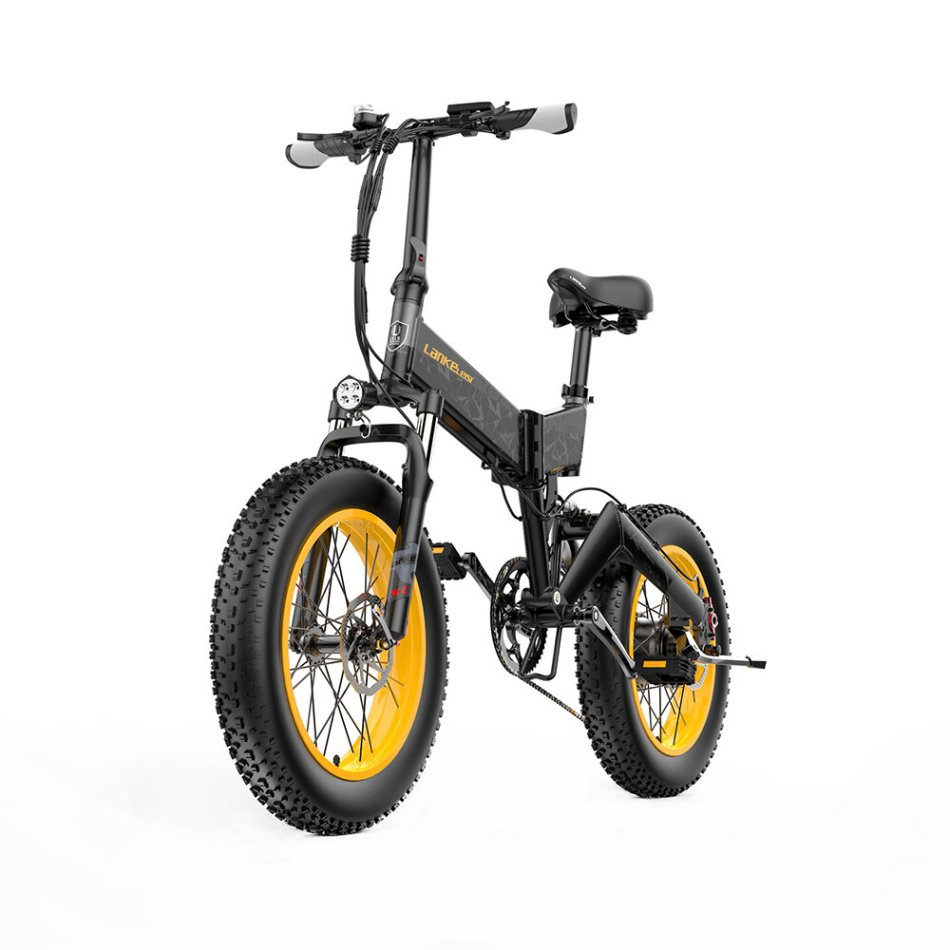 LANKELEISI X3000PLUS 10Ah 48V 500W Folding Moped Electric Bicycle 20 Inches 46km/h Max Max Load 200kg
