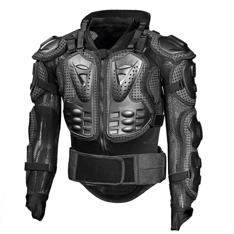 GHOST RACING Motorcycle Jacket Men Full Body Armor Jacket Motocross Racing Protective Gear Back Chest Shoullder Elbow Protection