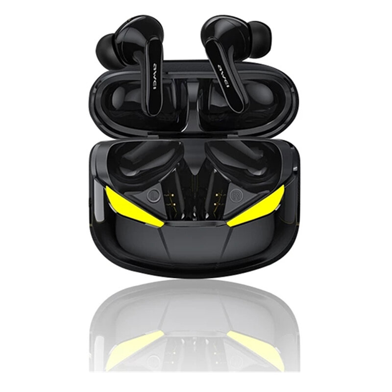 AWEI T35 Gaming Earbuds TWS bluetooth Handsfree Low Latency HiFi Deep Bass Sound True Wireless Stereo Earphone With Microphone