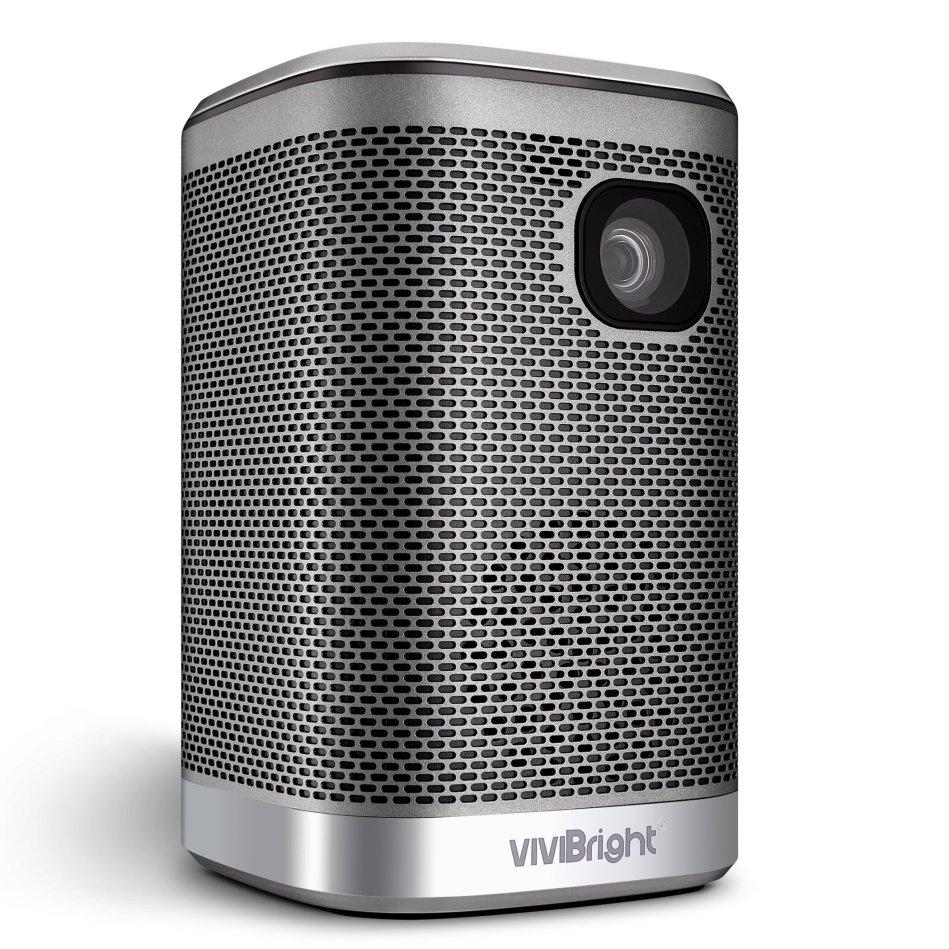Vivibright L2 Portable Projector 4500Lumens 12000mAH Battery HIFI Speaker for 3D LED Beamer Support 4K Home Cinema Projector Same Screen Version