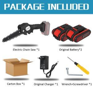 Και με 6ιντσες λεπίδα σε πολύ καλή τιμή στα 41€ με 2 μπαταρίες από αποθήκη Κίνας | VIOLEWORKS 88VF 1200W 6 Inch Electric Cordless One-Hand Saw Chain Saw Woodworking Tool Kit