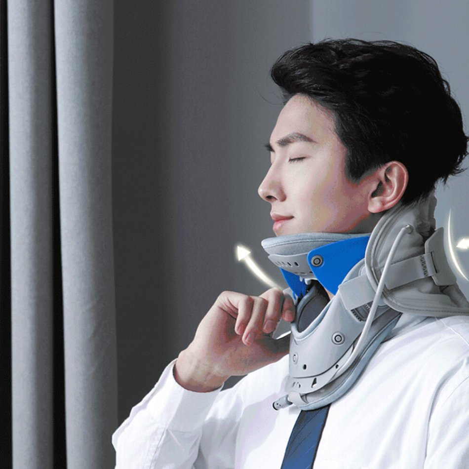 KCOTSON Cervical Fixator Adjustable Graphene Heat Application Neck Protection Support Pneumatic Cervical Bracket Orthodontic