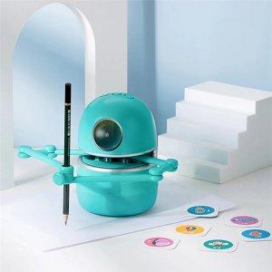 Στα €41.75 από αποθήκη Κίνας   Quincy Drawing Robot Artist Maths Spelling Learning Include 4 Books 80 Cards and 2 Pens Educational Smart Robot Improve Creativity Hand-on Skills Intelligent Automatic Robot for Kids