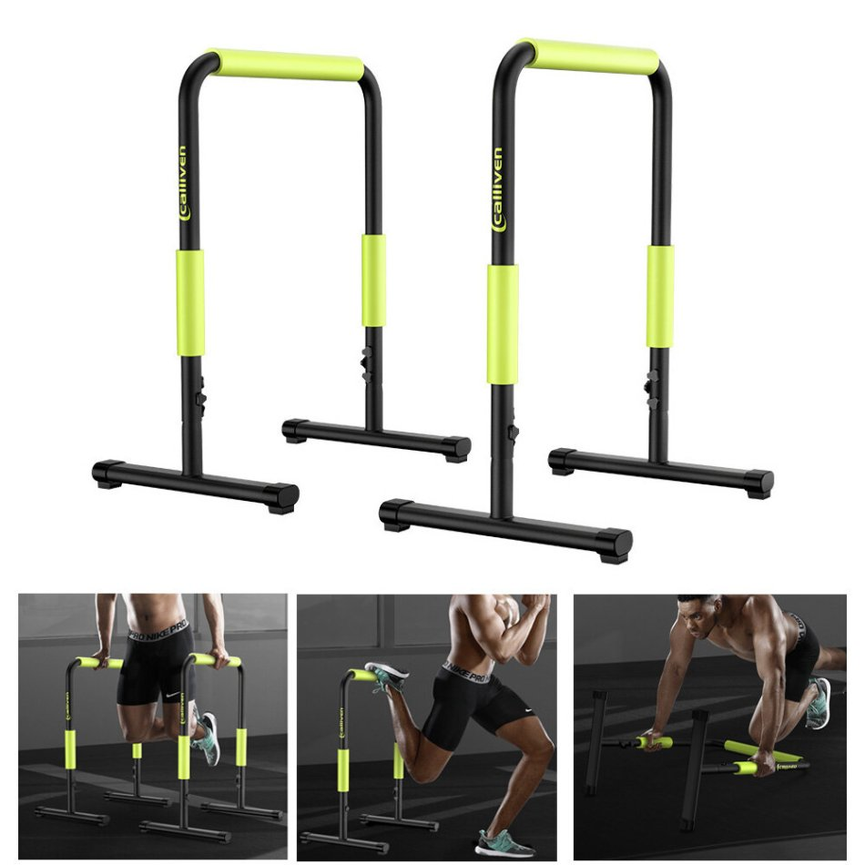 [EU Direct] BominFit PB2 Parallel Bars Adjustable Multifunction Dip Stand Station Muscal Fitness Workout Push Up Stand Gym Home Exercise