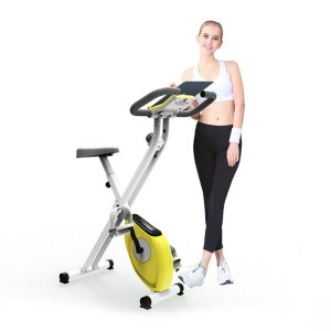 Στα €119.28 από αποθήκη Τσεχίας | KALOAD Indoor Cycling Folding Magnetic Erection Bike Stationary With Tablet Stand Home Fitness Gym Workout Equipment
