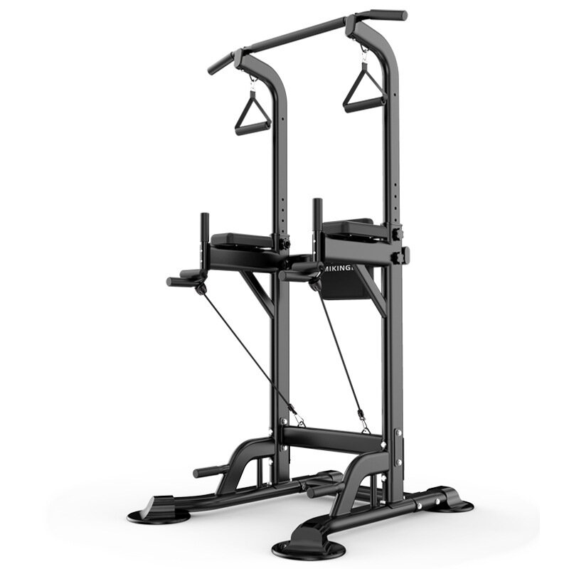 MIKING 045 Multifunction Power Tower Adjustable Horizontal Bar Pull-ups Dip Stands Pull Up Bar Gym Strength Training Fitness Equipment for Adult Kids
