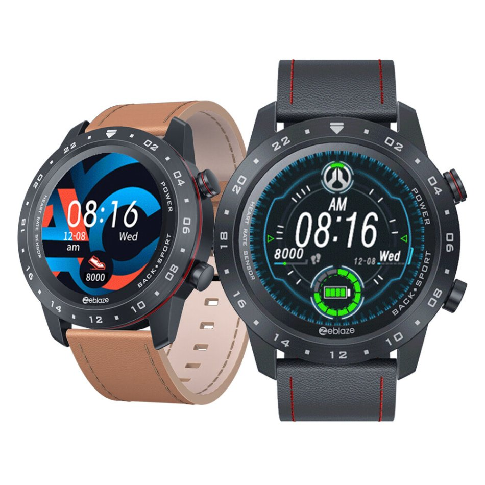 [bluetooth V5.0] Zeblaze NEO 2 Multi-watch Faces 1.3inch Full-round Touch Screen HRV Health Index 24h Heart Rate Monitor Italian Vacchetta Strap Smart Watch