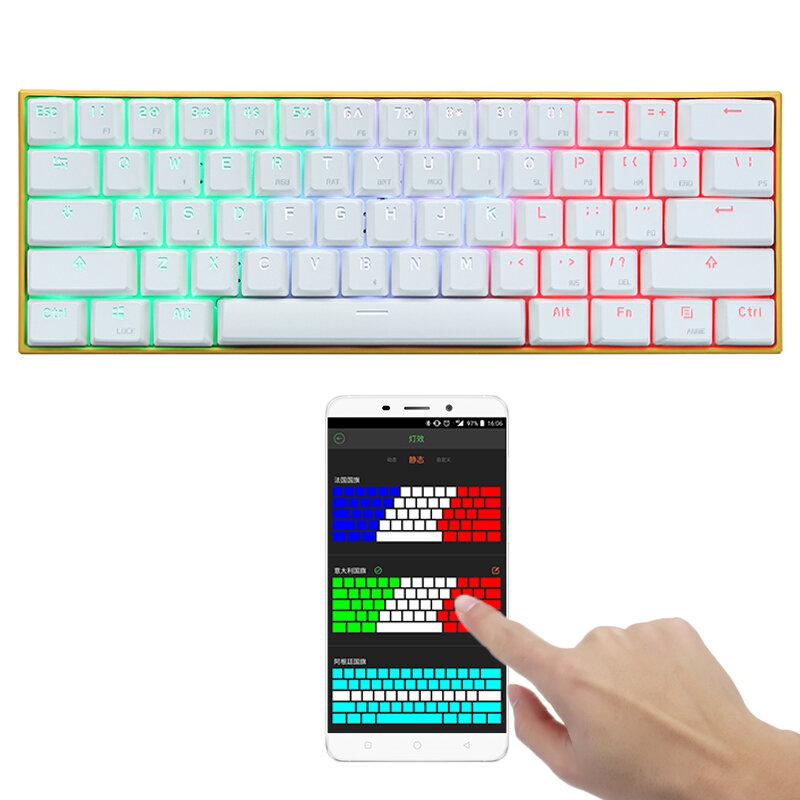 [APP Control] Anne PRO Blue Switch RGB Wireless bluetooth Mechanical Gaming Keyboard