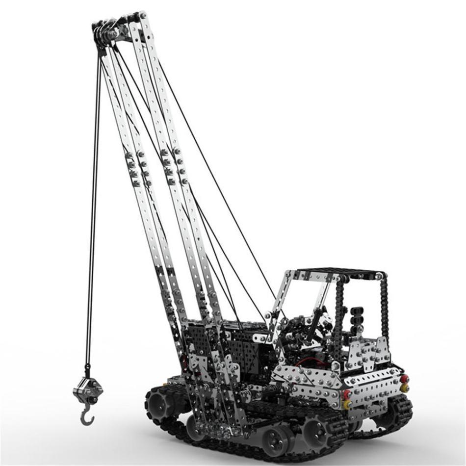 SWRC 010 2.4G 10CH 1745PCS 2Stainless Steel DIY RC Car Heavy Duty Crane Model Vehicles
