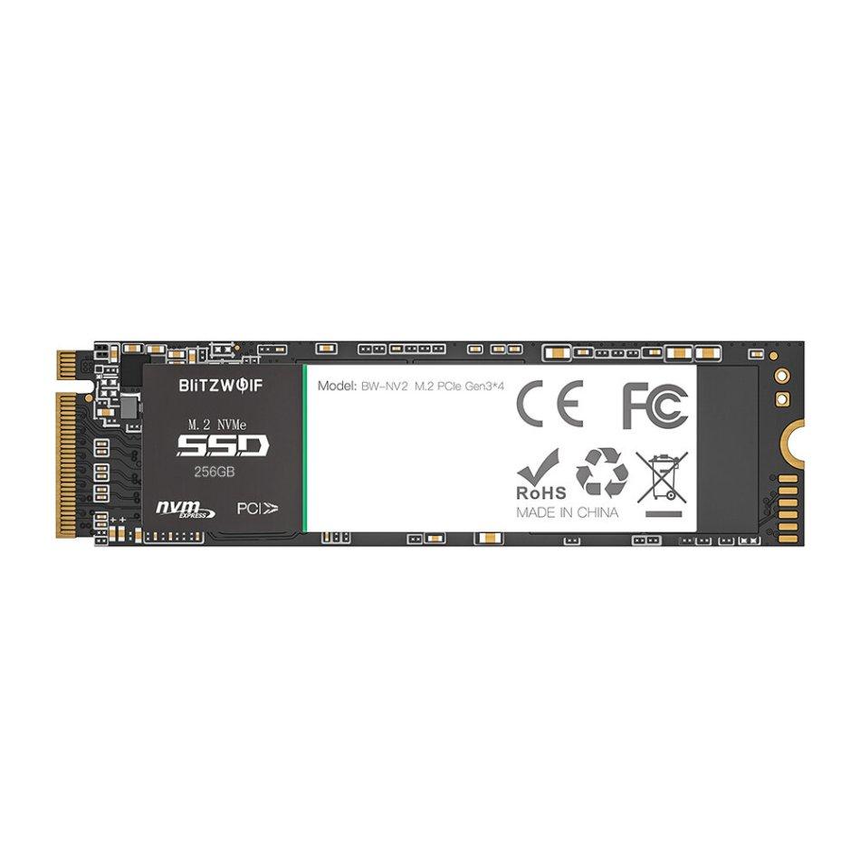 BlitzWolf®BW-NV2 PCIe Gen3*4 NVMe1.3 SSD 256GB M.2-2280 M-Key Soild State Drive Hard Disk 256GB