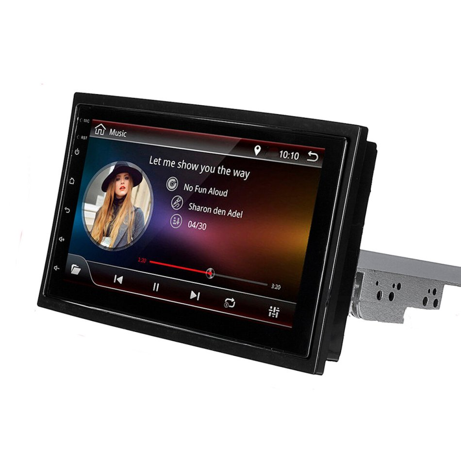 Car Stereo Radio 7 Inch 1 Din for Android 8.1 Multimedia Player Adjustable Rotation 4 Core 1GB+16GB GPS Wifi bluetooth FM AM