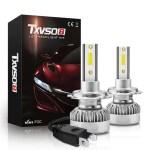 Στα 8€ από αποθήκη Κίνας | TXVSO8 G1 COB LED Car Headlights Bulbs H7 H11 H1 9012 9006 9005 Fog Lights 110W 20000LM 6000K White Waterproof 2Pcs