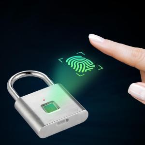 Στα 16€ και με βίντεο για να την δεις live πριν την πάρεις από αποθήκη Κίνας | Fingerprint Lock Security Keyless Smart Padlock USB Rechargeable Digital Quick Unlock Door Lock